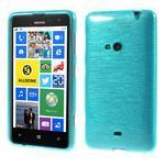 Gélové kartáčové puzdro na Nokia Lumia 625 - modré - 1/5