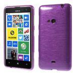 Gélové kartáčové puzdro na Nokia Lumia 625 - fialové - 1/5