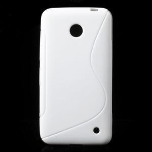 Gélové S-line puzdro na Nokia Lumia 630- biele - 1