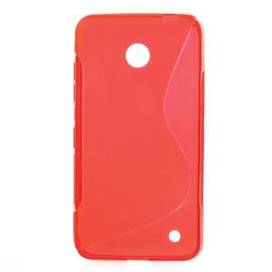 Gélové S-line puzdro na Nokia Lumia 630- červené - 1