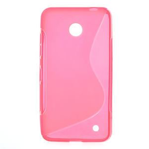 Gélové S-line puzdro na Nokia Lumia 630- ružové - 1