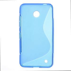 Gélové S-line puzdro na Nokia Lumia 630- modré - 1