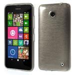Gélové Kartáčové puzdro na Nokia Lumia 630- šedé - 1/7