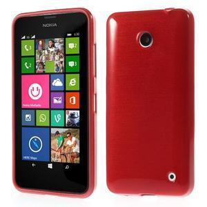 Gélové Kartáčové puzdro na Nokia Lumia 630- červené - 1