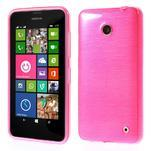Gélové Kartáčové puzdro na Nokia Lumia 630- ružové - 1/5