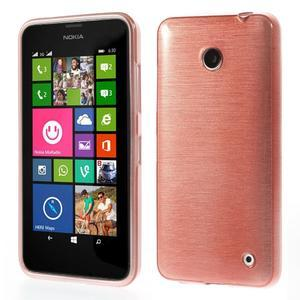 Gélové Kartáčové puzdro na Nokia Lumia 630- svetleružové - 1