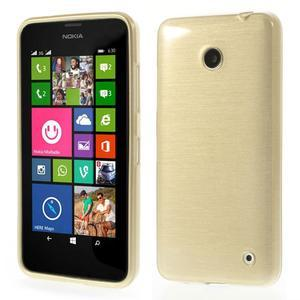 Gélové Kartáčové puzdro na Nokia Lumia 630- zlatavé - 1