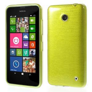 Gélové Kartáčové puzdro na Nokia Lumia 630- zelené - 1