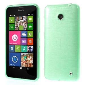 Gélové Kartáčové puzdro na Nokia Lumia 630- zelenomodré - 1