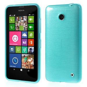 Gélové Kartáčové puzdro na Nokia Lumia 630- modré - 1