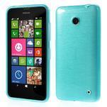 Gélové Kartáčové puzdro na Nokia Lumia 630- modré - 1/5