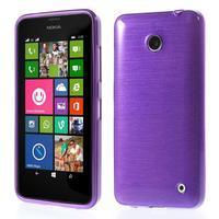 Gélové Kartáčové puzdro na Nokia Lumia 630- fialové - 1/3