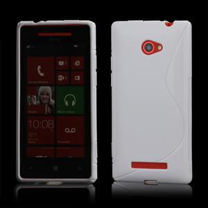 Gélové S-line puzdro pre HTC Windows phone 8X- biele - 1