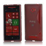 Gélové S-line puzdro pre HTC Windows phone 8X- šedé - 1/4