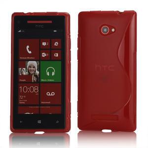 Gélové S-line puzdro pre HTC Windows phone 8X- červené - 1