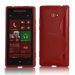 Gélové S-line puzdro pre HTC Windows phone 8X- červené - 1/4