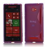 Gélové S-line puzdro pre HTC Windows phone 8X- fialové - 1/4