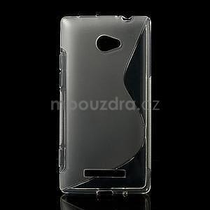 Gélové S-line puzdro pre HTC Windows phone 8X- transparentný - 1