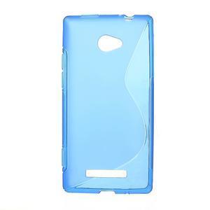 Gélové S-line puzdro pre HTC Windows phone 8X- modré - 1