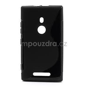 Gélové S-liné puzdro pre Nokia Lumia 925- čierné - 1