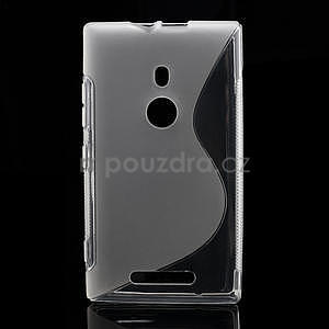 Gélové S-liné puzdro pre Nokia Lumia 925- transparentný - 1