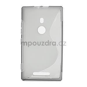 Gélové S-liné puzdro pre Nokia Lumia 925- šedé - 1