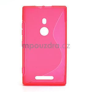 Gélové S-liné puzdro pre Nokia Lumia 925- ružové - 1