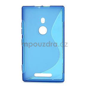 Gélové S-liné puzdro pre Nokia Lumia 925- modré - 1