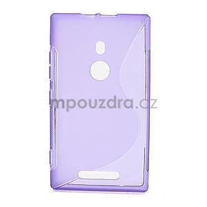 Gélové S-liné puzdro pre Nokia Lumia 925- fialové - 1