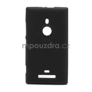 Gélové matné puzdro pre Nokia Lumia 925- čierné - 1