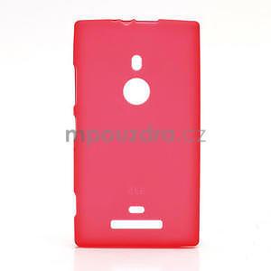 Gélové matné puzdro pre Nokia Lumia 925- červené - 1