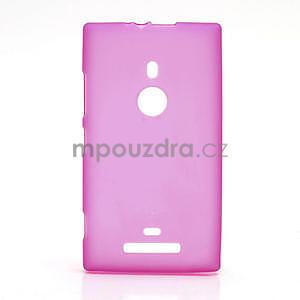 Gélové matné puzdro pre Nokia Lumia 925- ružové - 1