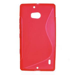 Gélové S-line puzdro na Nokia Lumia 930- červené - 1