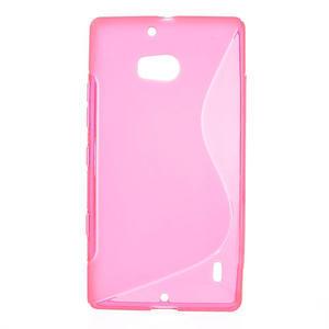 Gélové S-line puzdro na Nokia Lumia 930- růžové - 1