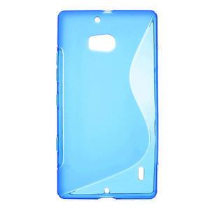 Gélové S-line puzdro na Nokia Lumia 930- modré - 1