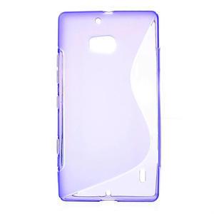 Gélové S-line puzdro na Nokia Lumia 930- fialové - 1