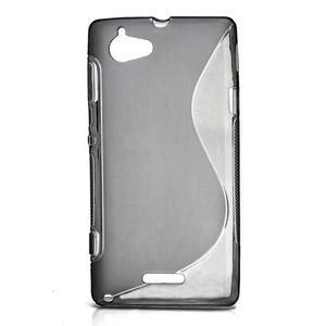 Gélové S-line puzdro na Sony Xperia L C2105- šedé - 1