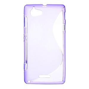 Gélové S-line puzdro na Sony Xperia L C2105- fialové - 1