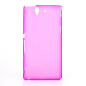 Gélové puzdro na Sony Xperia Z L36i C6603- růžové - 1