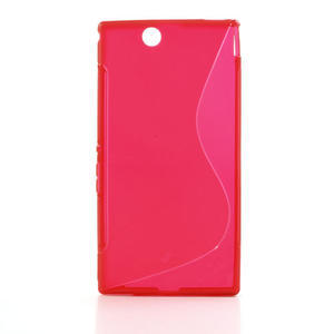 Gelove S-line pouzdro na Sony Xperia Z ultra- červené - 1