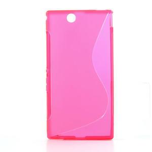 Gélové S-line puzdro pre Sony Xperia Z ultra- ružové - 1