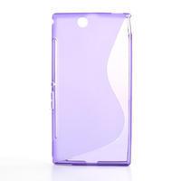 Gélové S-line puzdro pre Sony Xperia Z ultra- fialové - 1/5