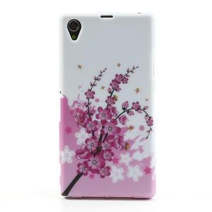 Gélové puzdro pre Sony Xperia Z1 C6903 L39- kvitnúce vetvička - 1
