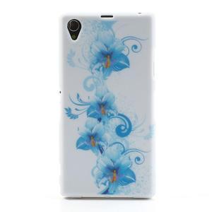 Gélové puzdro pre Sony Xperia Z1 C6903 L39- modrá lilie - 1