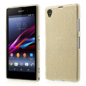 Kartáčované puzdro pre Sony Xperia Z1 C6903 L39- zlaté - 1
