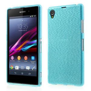 Kartáčované puzdro pre Sony Xperia Z1 C6903 L39- modré - 1
