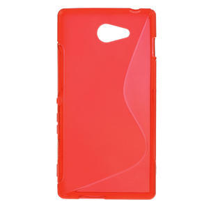 Gélové S-line puzdro na Sony Xperia M2 D2302- červené - 1