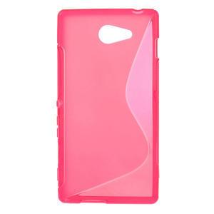 Gélové S-line puzdro na Sony Xperia M2 D2302- růžové - 1