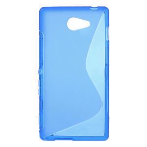 Gélové S-line puzdro na Sony Xperia M2 D2302- modré - 1