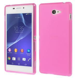 Gélové tenké puzdro pre Sony Xperia M2 D2302 - ružové - 1